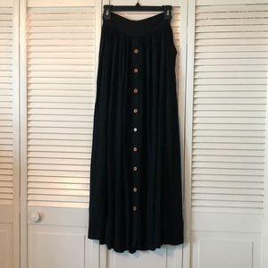 Long black Matilda Jane skirt.